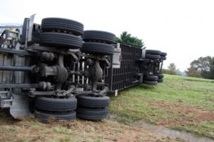 18-wheeler rolled over
